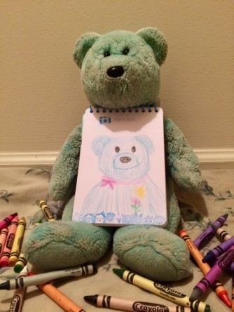 Colouring Teddy 04